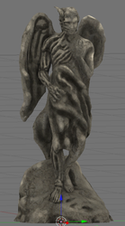 Demon Statue wip0004 by MikeDBoing