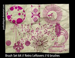 Brush Set 64 - Retro Leftovers by punksafetypin