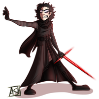 Kylo ren by Ashesfordayz