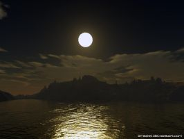 Moonlight Sailing by eMBeeL