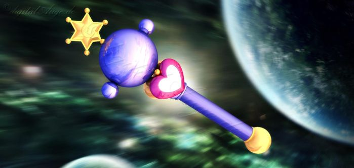 Sailor Moon - Pluto Wand 3D by digitalAuge