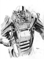 Fallout 3 Power Infantry Armor by Daegher