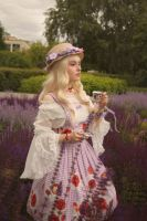 Lolita photosession on summer flowers festival by jurisdictia