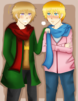 1pHRE and 2pHRE: Gabriel and Claude Fall Clothes by Blissyanya