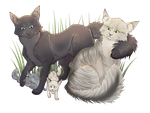 Moonflower X Stormtail by WoofyDragon