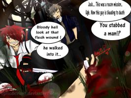 Jack and Mitch : Recon gone Wrong (comic scene) by OpticDeviant