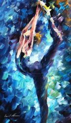 Blue Dress by Leonid Afremov by Leonidafremov