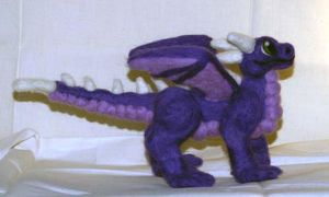 Needle Felted Purple Dragon by The-GoblinQueen