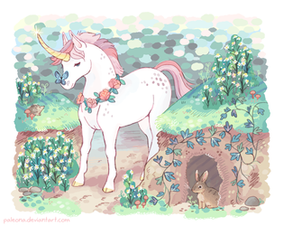 V and the Enchanted Forest by Paleona