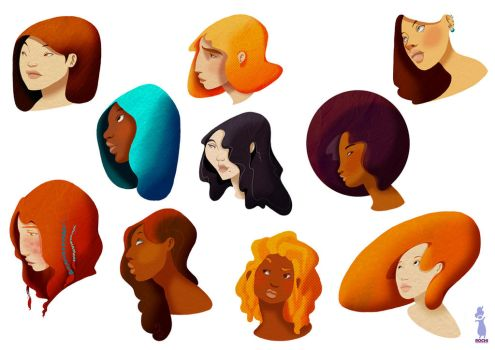 Color Heads by RocioGarciaART