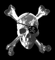 Jolly Roger Crossbones by capdevil13