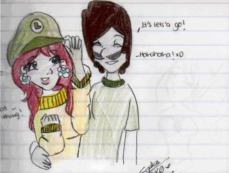 Luigi and Daisy :Lets'a go: by MissRainbows1997