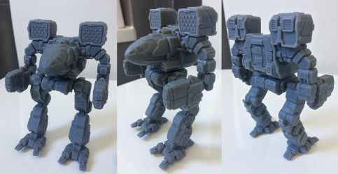 MWGoW 3d Printed Timber Wolf / Mad Cat prototype by MasakariPrime