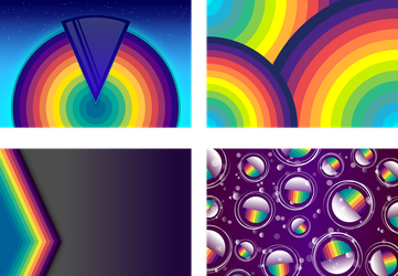 Simple Backgrounds - Disco Haven - 1 Set of 4 by Viscious-Speed