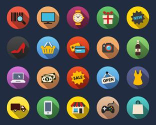 Shopping Flat Icons by Alexgorilla