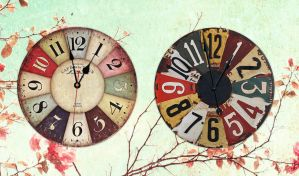 Antique Plates Analog Clock for xwidget by Jimking