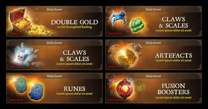 Dungeon hunter 5 Daily Dungeon banners by Panperkin