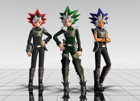  MMD  Cecil, Leto, and Tobias. by XSushi-ChanX