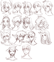 WH headshot sketches by Kiumin