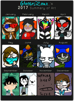 Art Summary 2017 (Very Late) by Glasses2themax