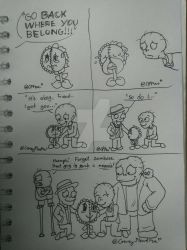 Doodle Comic - Love for Sunbie by CrazyPlantMae