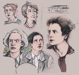 BTTF Sketches by SunnyUra