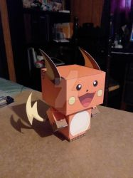 #026 Shiny Raichu CubeeCraft by SuperVegeta71290