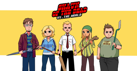 Shaun of the Dead vs. The World by karlsia