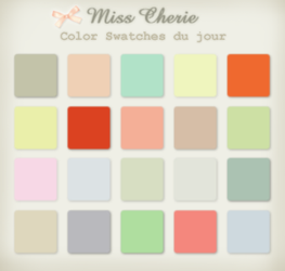 Miss Cherie Color Swatches by kittenbella
