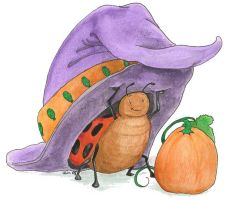 LadyBug's Witchy Hat by metasilk