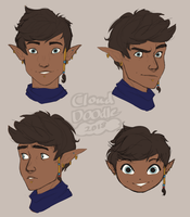 Jacob Headshot Sketches by CloudDoodle