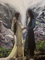 Aragorn and Arwen by Shogun95