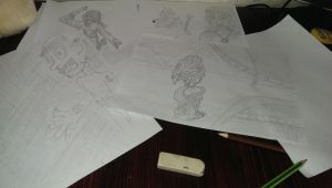 Some drawings by ThamuzMartu