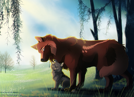 WoLF:. A day just for us by Soyala-Silveryst