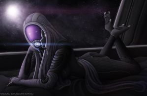 Tali'Zorah for Radavik - Redux by OrbitalWings