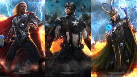 Avengers - Wallpaper 01 by johnsonting