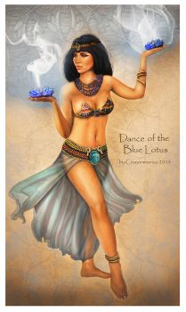 Dance Of The Blue Lotus by crayonmaniac