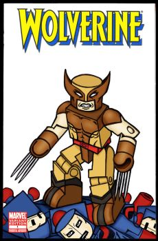 Wolverine Minimate Comic Cover by luke314pi