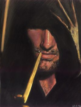 Pasteldrawing of Aragorn by Valyanna8361