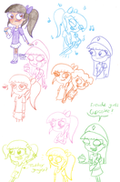 Ginger Sketches. by Pinky1babe