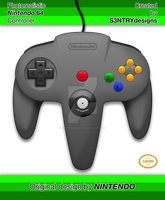 Photorealistic Nintendo 64 Controller by S3NTRYdesigns