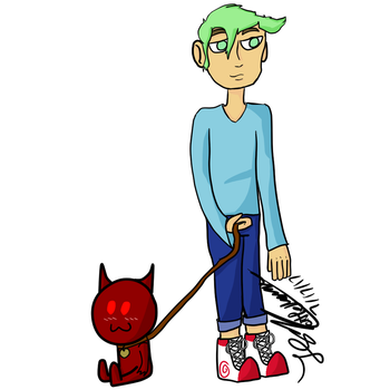 minty boi and his demon by AuricLowell