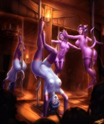 Pole Dancing Draenei by PersonalAmi