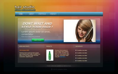 Hair studio - web design by MichalSadilek