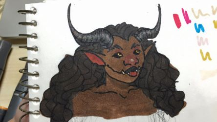 Copic Markers + Colored Pencils = Demon by steph0804