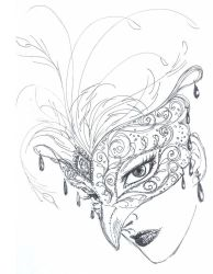 Mask - rough sketch by aruarian-dancer