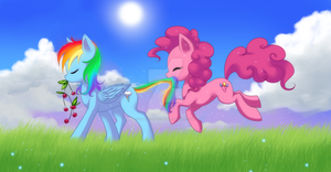 Following the Rainbow by Jacky-Bunny