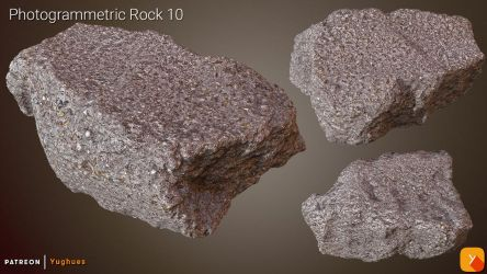 [Free] Photogrammetric Rock 10 (last) by Yughues