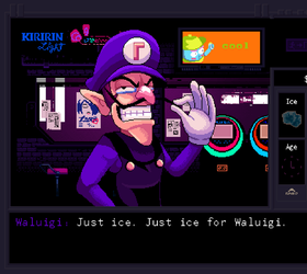 Just ice for Waluigi by AndroJuniarto