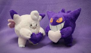 Valentine's day lovely duo : Gengar and Clefable